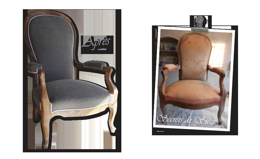 Rénovation fauteuil Béziers | Atelier Secrets de Siège