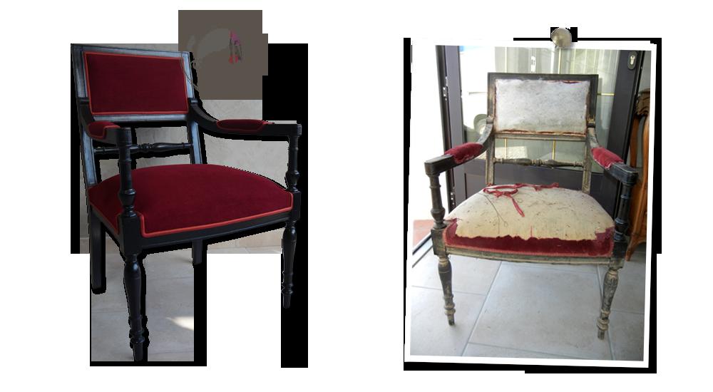 fauteuil-de-style-directoire-tissu-rouge-casal-galon-structure-noire-vernis-atelier-secrets-de-siege