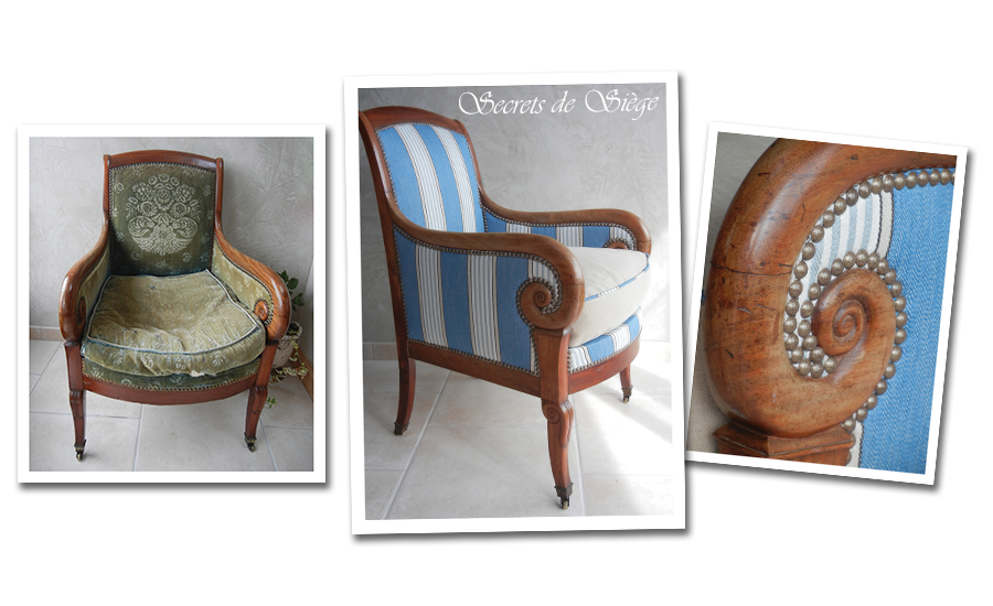 Atelier-secrets-de-siege-fauteuil-coussin-restauration-tissu-raye-romo