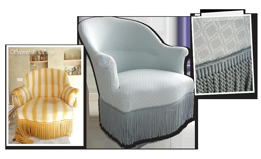 Tiresangle Atelier Secrets De Siège - Ancien fauteuil crapaud