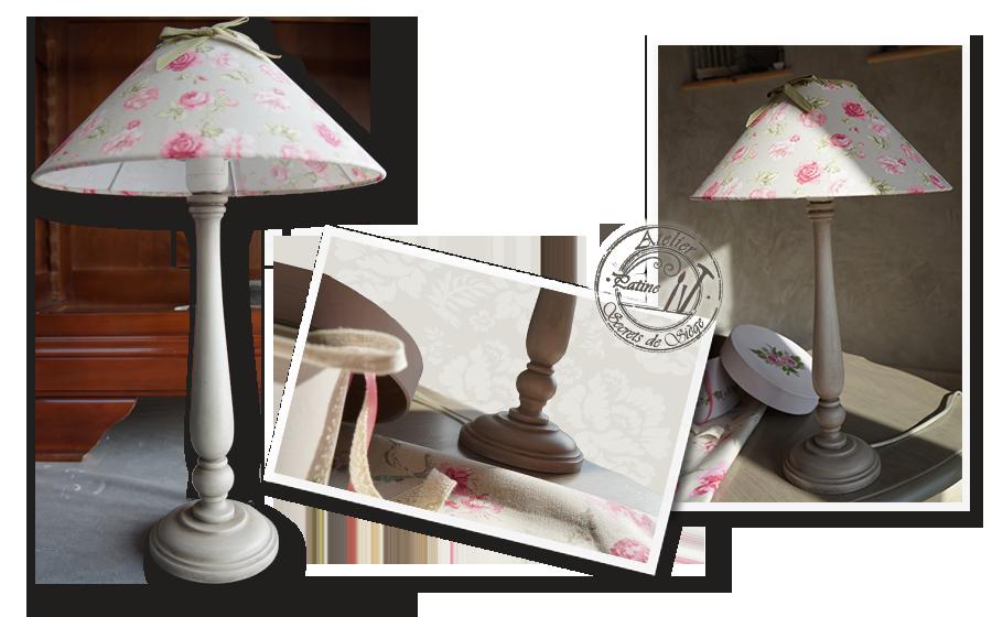 Patine atelier secrets de si ge for Lampe de chevet style anglais