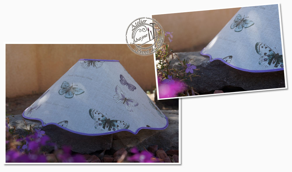 abat-jour-tissu-lin-imprime-papillon-finition-soutache-parme