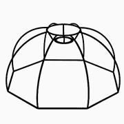 Abat-jour Hexagonal