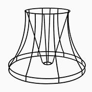 Abat-jour pagode ronde à bandeau