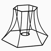 Abat-jour Pagode hexagonale
