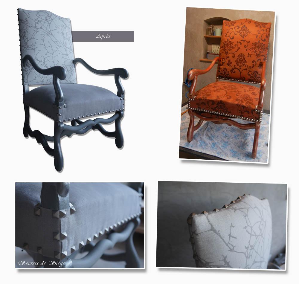 Relooker Un Fauteuil Voltaire chaise | atelier secrets de siège