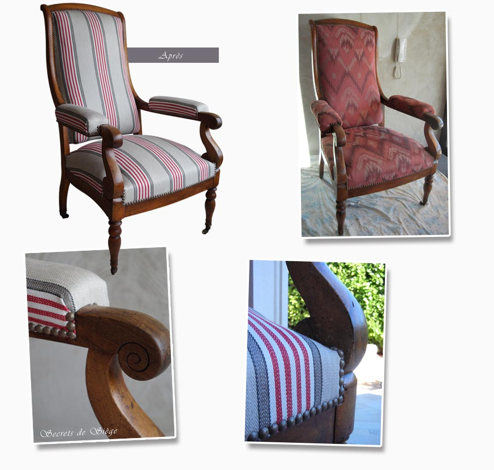 Relooker Un Fauteuil Ancien chaise | atelier secrets de siège