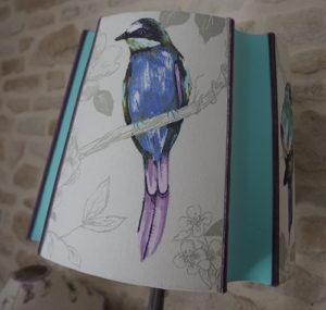 Carré Espagnol imprimé oiseaux