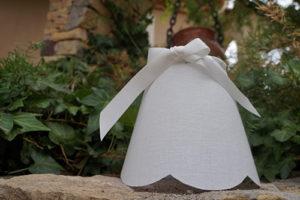 Conique lin blanc ruban satin